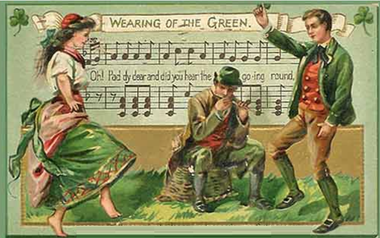 """The Wearing of the Green"" is an Irish street ballad lamenting the repression of supporters of the Irish Rebellion of 1798. It is to an old Irish air..."""